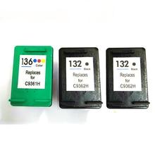 For HP 132 136 Ink Cartridge For HP132 136 Officejet 6213 Deskjet 5443 D4163 Photosmart 2573 C3183 D5163 PSC 1513 1513s