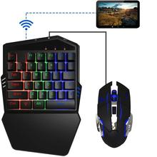 iFYOO Mobile Gaming Keyboard and Mouse(Adapter build in) for iPhone/iPad iOS/Android OS Mobile Shooting Games PUBG/Call of Duty eachine r051 150ch 5 8g av recevier build in bat for iphone android ios smart mobile phone tablet vs rotg01 uvc otg for rc toys