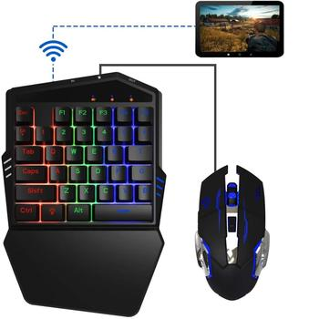iFYOO Mobile Gaming Keyboard and Mouse(Adapter build in) for iPhone/iPad iOS/Android OS Mobile Shooting Games PUBG/Call of Duty