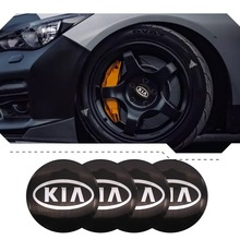 4Pcs 56mm Auto Emblem Logo Wheel Center Hub Cover Sticker For Kia Ceed Sportage Rio 3 4 jd Cerato Sorento Picanto Optima niro