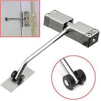 1pc Automatic Mounted Spring Door Closer Stainless Steel Adjustable Surface Door Closer 160x96x20mm|Door Closers| |  -