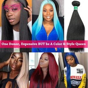 [Berrys Fashion]Brazilian 10A Grade Virgin Hair Straight 100% Unprocessed Human Hair Bundles Raw Weave 1/3/4 PCS Hair Extensions(China)