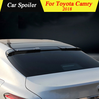 For Toyota Camry 2018 Rear Trunk Spoiler High Quality ABS Material Primer Color Rear Trunk Boot Wing Car Tail Wing Decoration