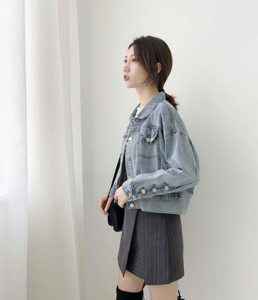 Jean Jas for Women Loose Casual Blue Blue Blue Blue Blue Women   Jackets   Female runner Denim Women   Basic     Jackets   Girls runner