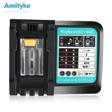 Li-Ion Battery Charger 7A Charging Current For Makita 14.4V 18V BL1430 BL1440 BL1450 BL1460 BL1815 Power Tool Dc18RC Charger комплект makita аккумулятор bl1830b li ion 18v 3ah зу dc18rc 191a25 2
