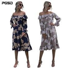 Pgsd весенне летнее Ретро модное женское платье с оборками цветочный