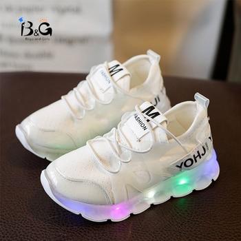 2019 summer children's shoes light shoes flash shoes LED boys and girls sports luminous shoes light shoes coconut shoes