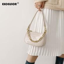 EXCELSIOR Alligator Vintage Baguette Women Handbag PU Shoulder Bag INS Crossbody Bags for Women 2020 dames tassen bolso mujer