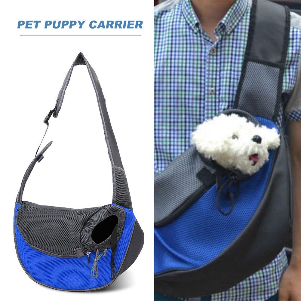Ademend Pet Dog Carrier Outdoor Travel Handtas Pouch Mesh Oxford Enkele Schoudertas Puppy Carrier Sling Comfort Travel Tote|Hondendragers| - AliExpress