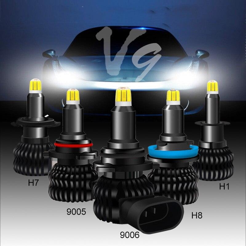 v9 com samsung 48 csp chips led h7 8 lados 9005 hb3 h11 h8 h1 lampadas