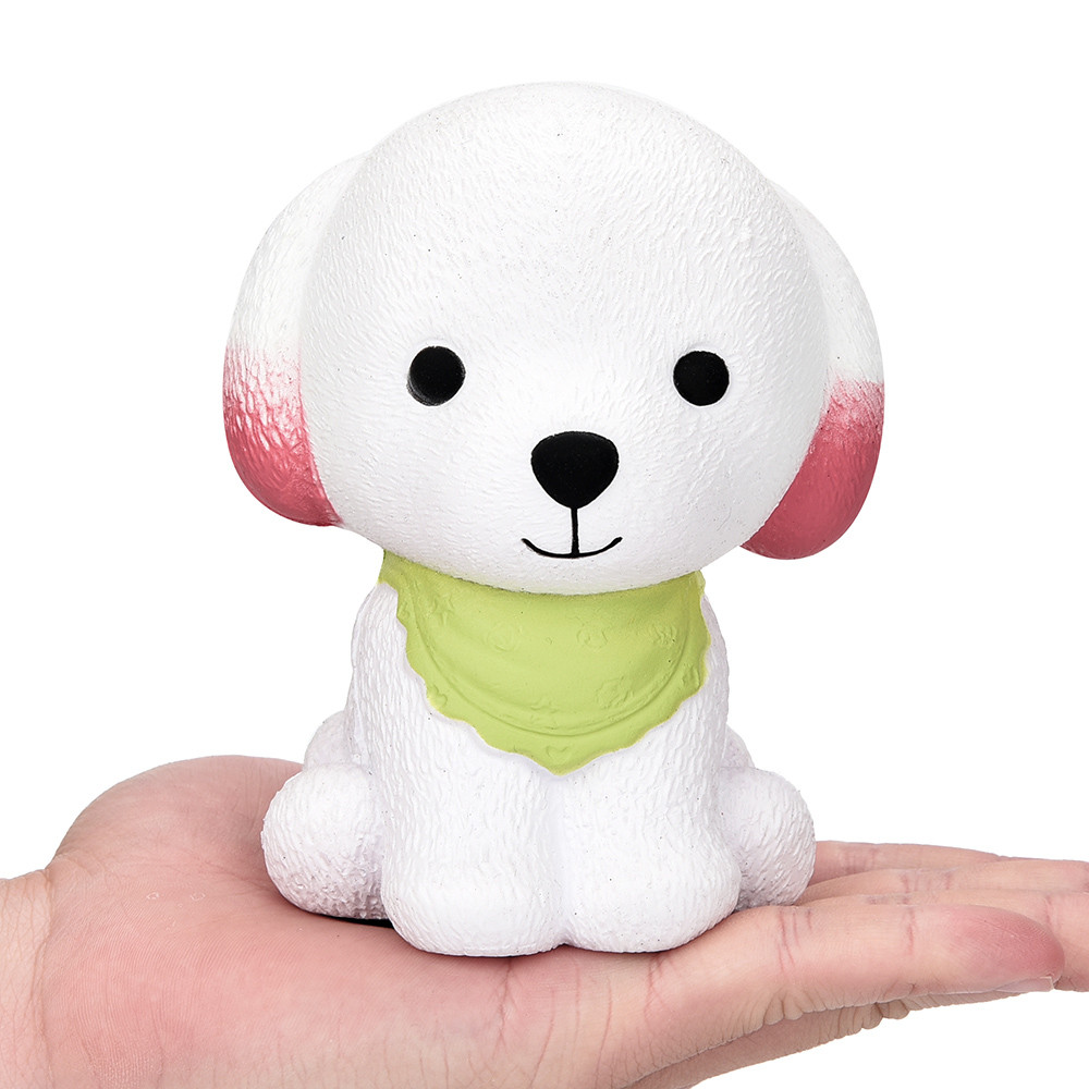 Jumbo Squishy Cute Puppy Scented Cream Slow Rising Squeeze Decompression Toy Slow Rebound PU Toy Green Scarf Toys  L102