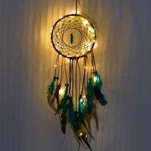 Dream Catcher Christmas Pendant Dreamcatcher Feather Charm Catchers Living Room Decor Hanging