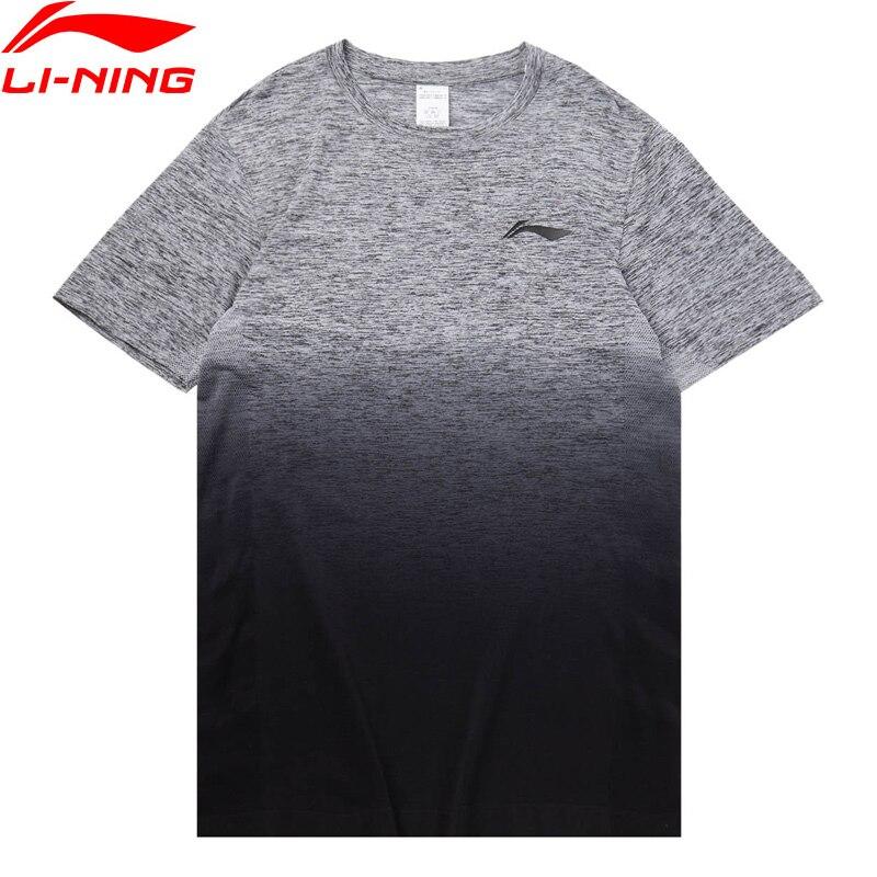 Мужская баскетбольная футболка Li Ning, облегающая дышащая Спортивная футболка с градиентом цвета, 68.1% нейлон, 31.9% полиэстер, ATSQ135 MTS3222|Баскетбольные майки|   | АлиЭкспресс