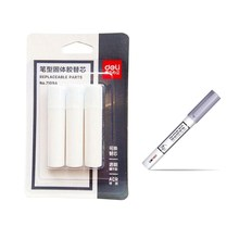 Deli 7109A wholesale pen shape glue stick set with spare for school office supply strong adhesives super DIY hand work