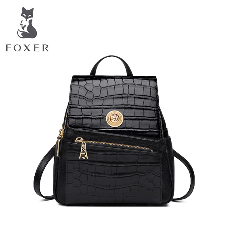 FOXER Backpack Designer-Bags Fashion Women Luxury New Famous-Brand