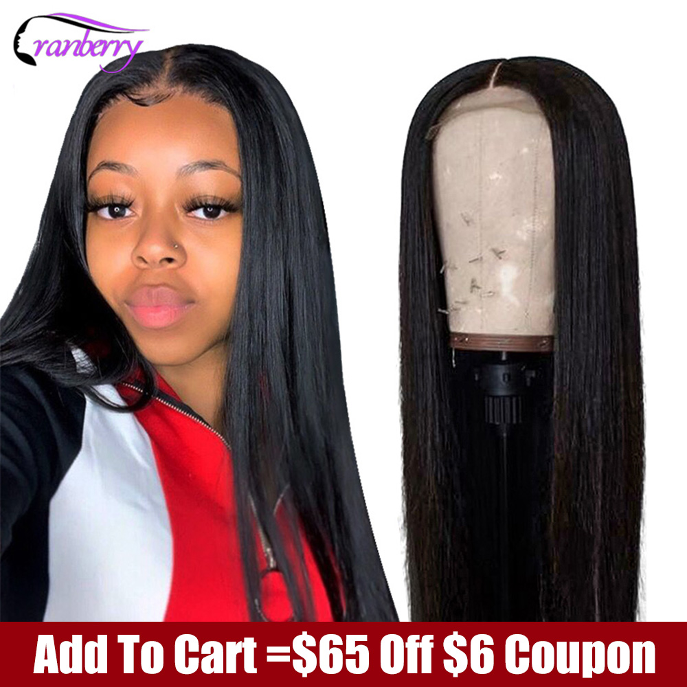 CRANBERRY HAIR Straight Lace Front Wig Remy 360 Lace Frontal Wig 13X6 Malaysian 180% Density Straight Lace Front Human Hair Wigs