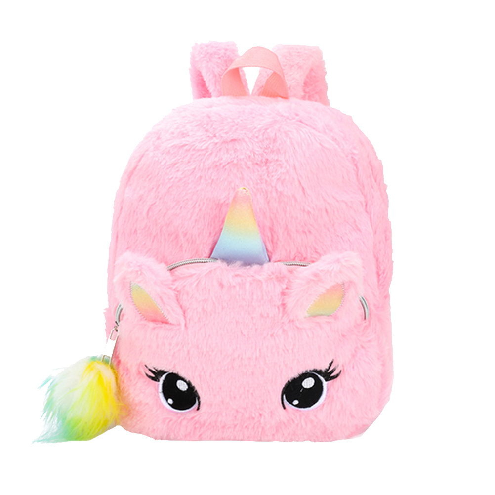 1PC Cute Schoolbag Plush Backpack Unicorn Fashion Cartoon Backpack Shoulder Bag Plush Toy For Children Student Girls