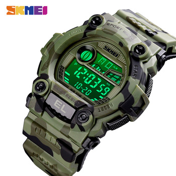 SKMEI Military Sport Watches Male LED Digital Wristwatch Stopwatch Alarm Dive Electronic Men's Clock Relogio Masculino 1633 1635 - discount item  90% OFF Men's Watches
