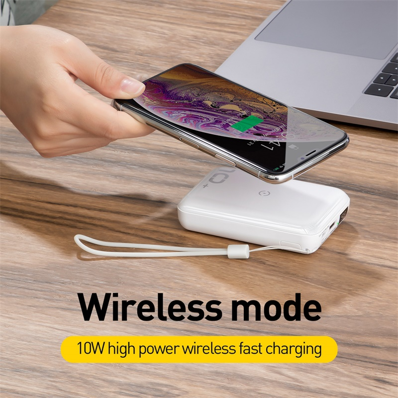Baseus 10000mAh Power Bank Qi Wireless Charger Powerbank For Iphone Samsung PD QC3 0 Fast Charging
