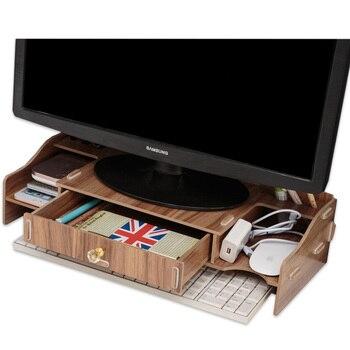 لتقوم بها بنفسك حاسوب خشبي إطار لوحة دفتر زيادة قوس الكمبيوتر كمبيوتر مكتبي الرف أجهزة الكمبيوتر المحمول براكي