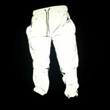 Mens/women Sport Running Pants Reflective Light Harajuku Hip Hop Casual Pants Outdoor Parkour Joggers Lace-up Mountain Trousers стоимость