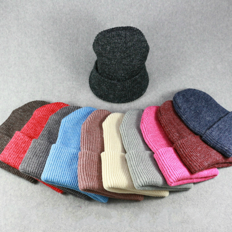 Womens Beanie Women's Hat Autumn Winter Rabbit Fur Solid Color Men Women Wild Warm Wool Cap  Knitted Hat Head Warm Hats Rabbit