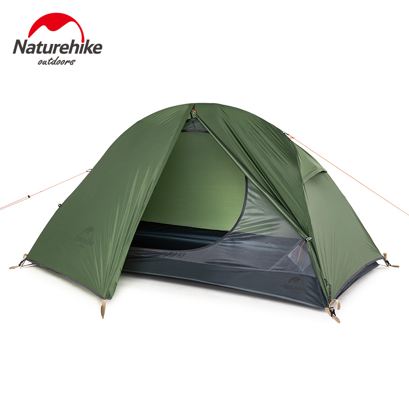 United Naturehike New Outdoor Camping Tent 1 Person Double Layer Riding Tent 20d Green Travel Ultralight Waterproof Hiking Equipment