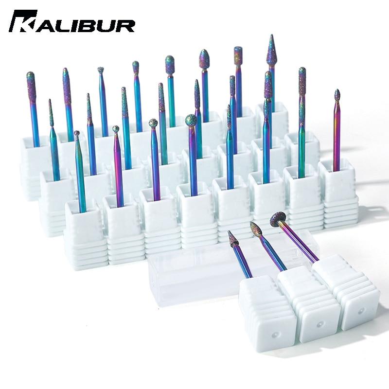 KALIBUR Diamond Ceramic Nail Drill Bits Milling Cutter For  Rotary Bits Cuticle Clean Accessories Nail Files Art Tools