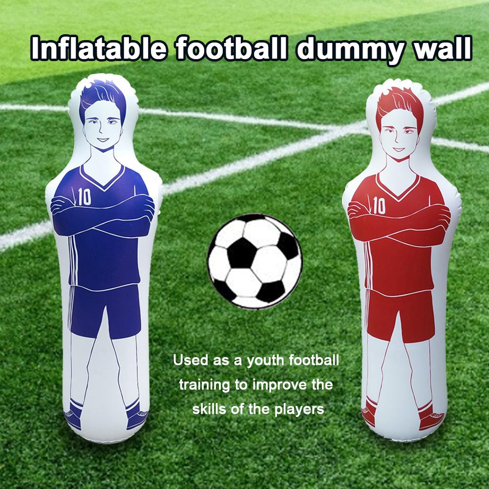 qianele 160CM Inflatable Dummy Adult Inflatable Football Practice Tumbler Soccer Dummy Training Goal Keeper For Dribbling Wall Passing Drills