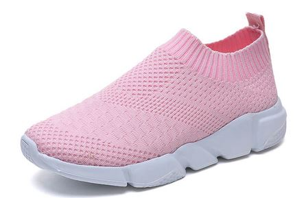 YEELOCA 2020  Breathable Mesh Platform Sneakers A001 Women Slip On Soft Ladies Casual Running Shoes XS0889