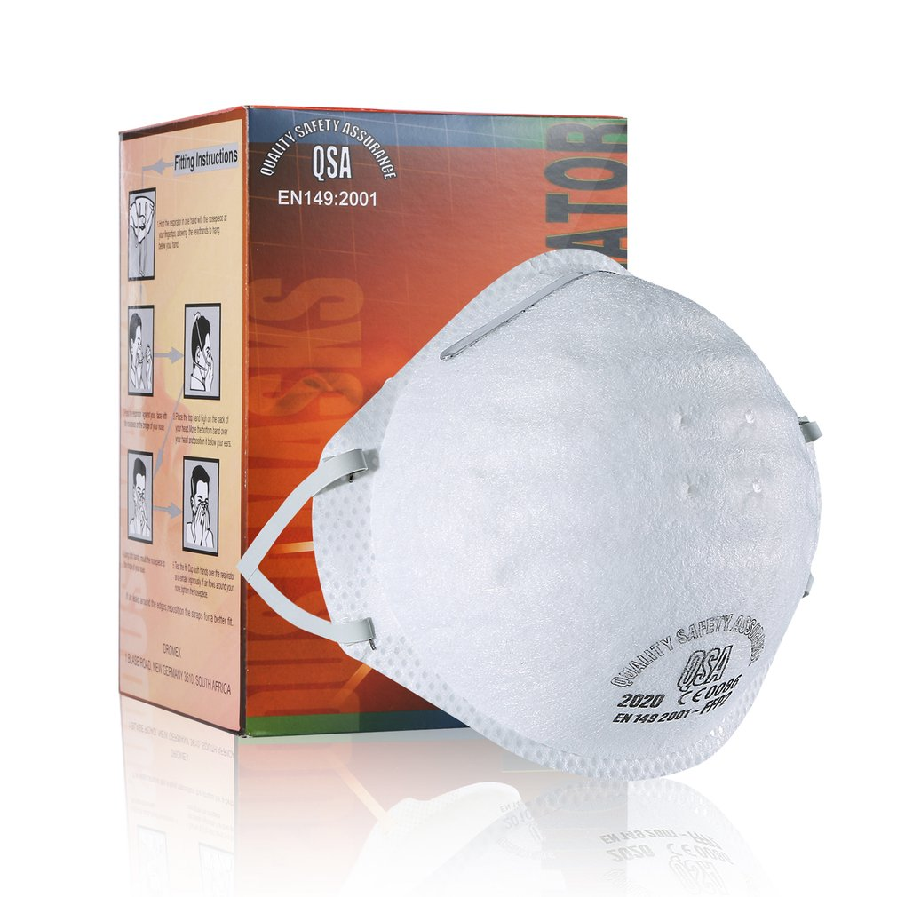 60 Pcs Ffp2 Mask With Valve Non-woven Dust Mask Anti PM2.5Anti Influenza Breathing Bicycle Riding Mask Safety Masks Face Care
