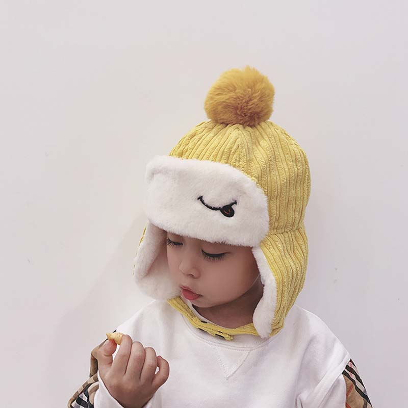 2-5Y Baby Kids Boys Girl Winter Warm Wool Beret Cap Child Outdoor Club Party Hat