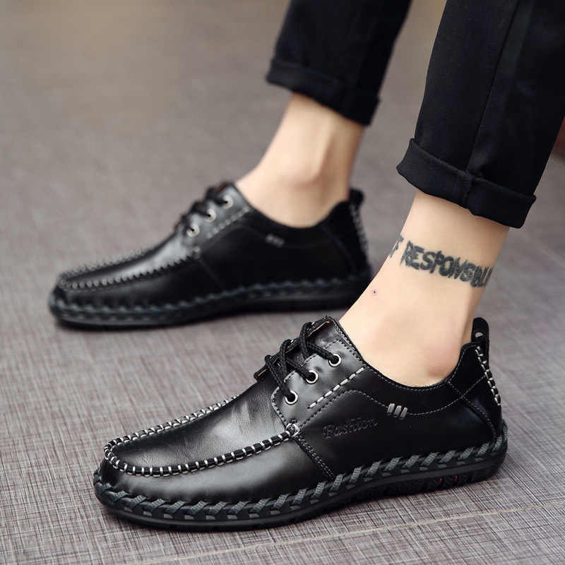 Men Loafers Men Shoes Fashion Casual Male Shoes Men Leather Shoes Leather Flat Shoes Zapatos De Hombre Moccasins Shoes