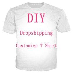 We Accept Dear Customer Design Anime/Photo/Singer Pattern/DIY T-shirt Men/Women 3D Print Streetwear T Shirt Plus Size 6XL 7XL