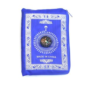 Image 5 - Portable Waterproof Muslim Prayer Mat Rug With Compass Vintage Pattern Islamic Eid Decoration Gift Pocket Sized Bag Zipper Style