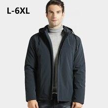 Мужская Уличная зимняя теплая куртка с капюшоном размера плюс, утолщенная теплая ветрозащитная парка с хлопковой подкладкой для альпинизма, походов, верхняя одежда для кемпинга