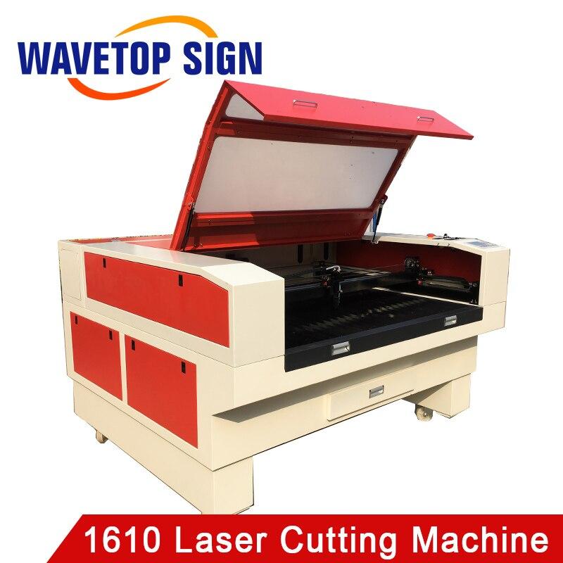 Machine de découpe de gravure Laser WaveTopSign 1610 puissance Laser 80W 100W taille de travail 1600mm x 1000mm