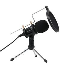 Micrófono condensador profesional MikrofonStudio, micrófono de grabación con Mini soporte de micrófono para iPhone, portátil, PC y tableta