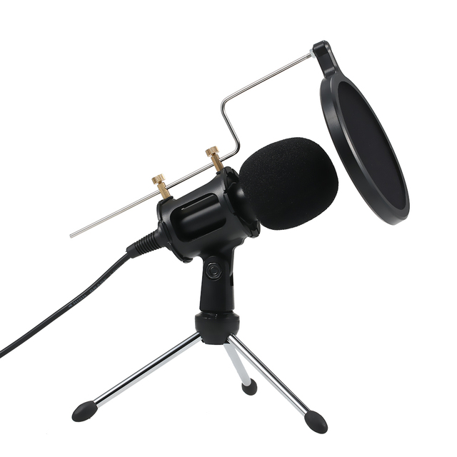 Professional Condenser Microphone MikrofonStudio Recording Mic Microphones with Mini MIC Stand for iPhone Laptop PC Tablet
