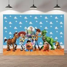 Fotografia backdrops zabawka z kreskówki historia cukierki urodziny dzieci strona tło studyjne dostosuj tło do zdjęć Studio