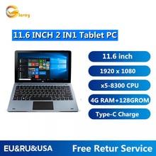 Tablet PC Windows 10 da 11.6 pollici 4GB DDR 128GB CPU NC01 8300 con tastiera Docking Pin 1920x1080 IPS doppia fotocamera compatibile con HDMI