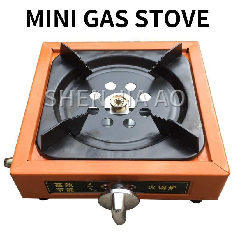 Home Gas Stove Single Stove Liquefied Gas Stove Fierce Energy-saving Stove Small Square Outdoor Camping Stove Portable Mini 1PC