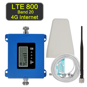 4G Internet Amplifier 4g Signal Repeater LTE 800 B20 Mobile Phone Signal Booster Antenna LTE800 Band 20 70dB Spain France Italy