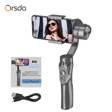 Orsda 3 Axis Gimbal Smartphone el sabitleyici Anti shake telefon Estabilizador Celular GOPRO IPhone11XS XR X 8 artı OR067A