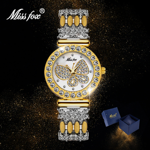 MISSFOX Woman Watch Gold Silve