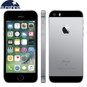 Оригинальный мобильный телефон Apple iPhone SE, разблокированный, 4G LTE, iOS A9, двухъядерный, 2 Гб ОЗУ 16/64 Гб ПЗУ, 4,0 дюйма, 12 МП, смартфон с распознавание...