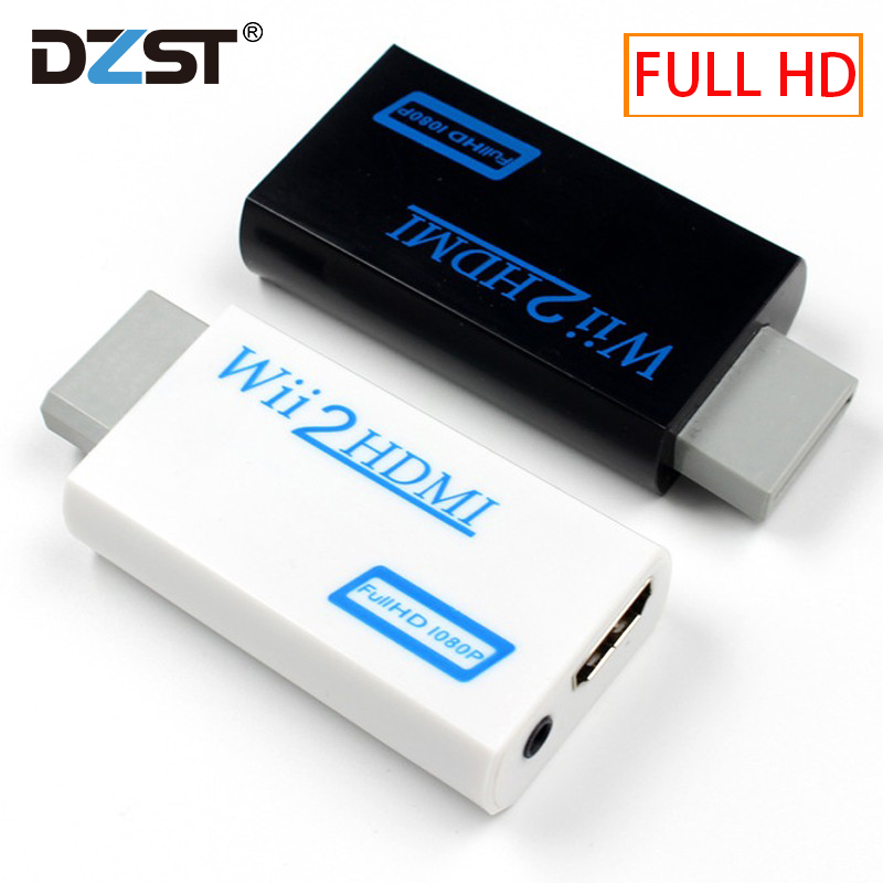 For Wii TO HDMI Converter Wii2HDMI With 3.5mm Audio Video Output Automatic Upscaler Adapter Support NTSC 480i PAL 576i 1080P