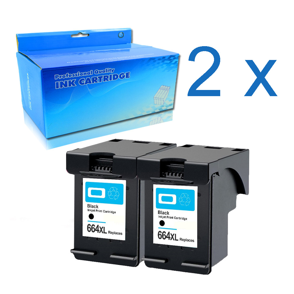 2BK 664XL <font><b>Ink</b></font> Cartridge compatible for <font><b>hp</b></font> 664 hp664 Deskjet <font><b>1115</b></font> 2135 3635 2138 3636 3638 4535 4536 4538 4675 4676 printer image