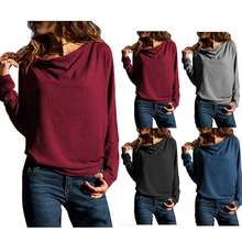 Blouse Women 2019 Fashion Vintage Long Sleeve Oversized Modish Casual Loose ONeck Solid Tee Top Female Blusas Mujer De Moda