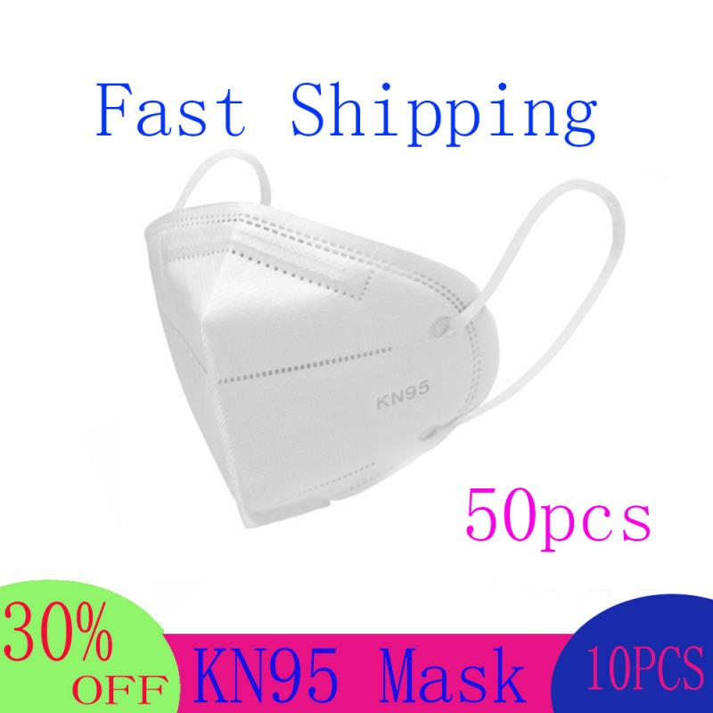 50pcs FFP2 N95 Mask Bacteria Proof Anti Infection Face Masks Mask Particulate Mouth Respirator Anti PM2.5 Safety Dust Mask
